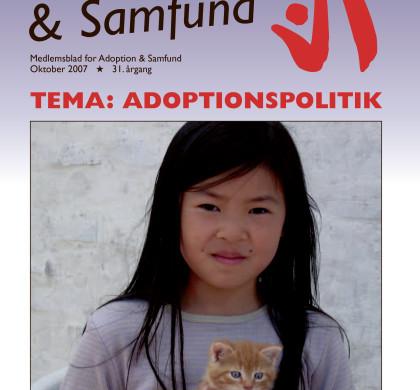 Adoption og Samfund, årgang 31, nr. 5 (2007)